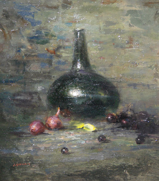 "Lindy Schillaci - ""Still Life With Dutch Onion Bottle"""